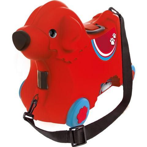 BIG 2-in-1 kindertrolley en loophond, BIG Bobby trolley rood