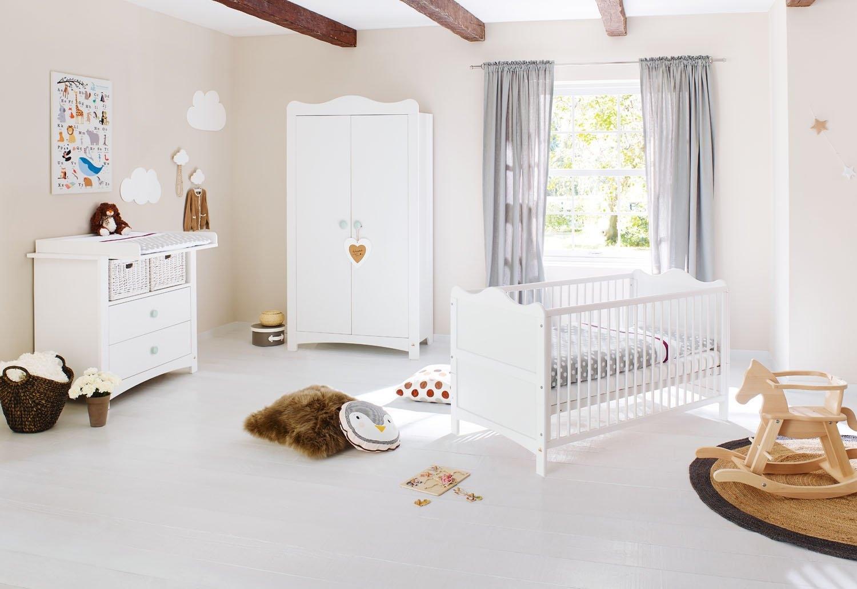 Pinolino complete babykamerset Florentina breed; met kinderbed, kast en commode; made in europe (set, 3 stuks) online kopen op otto.nl