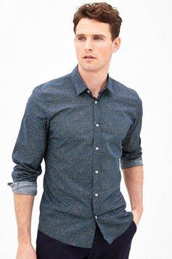 Modern fit: gestippeld overhemd