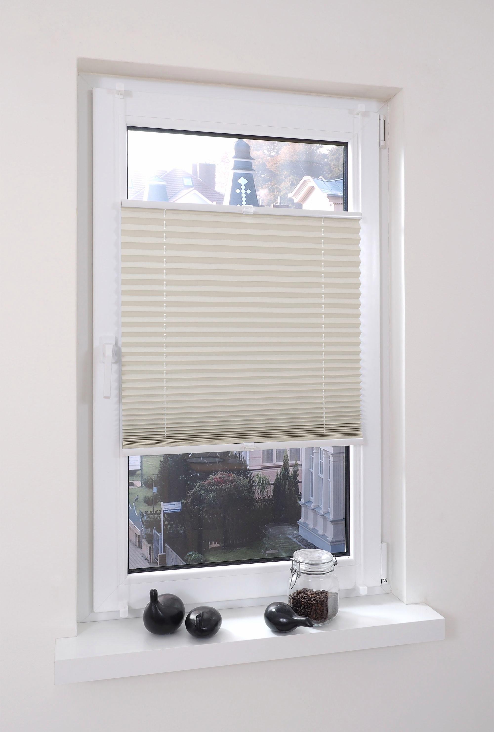 klemmfix thermo pliss liedeco vouwgordijn verduisterend energiebesparend standaardmaat in. Black Bedroom Furniture Sets. Home Design Ideas