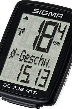 sigma sport fietscomputer, zwart, »bc 7.16 ats« zwart