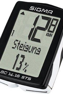 sigma sport fietscomputer zwart, »bc 14.16 sts« zwart