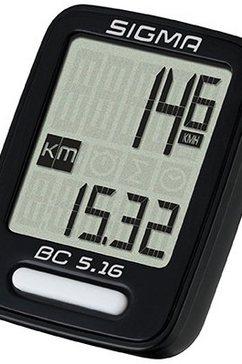 sigma sport fietscomputer, zwart, »bc 5.16« zwart