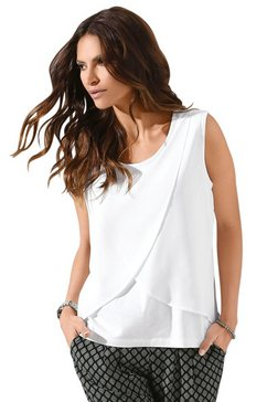 classic inspirationen shirttop in laagjes-look wit