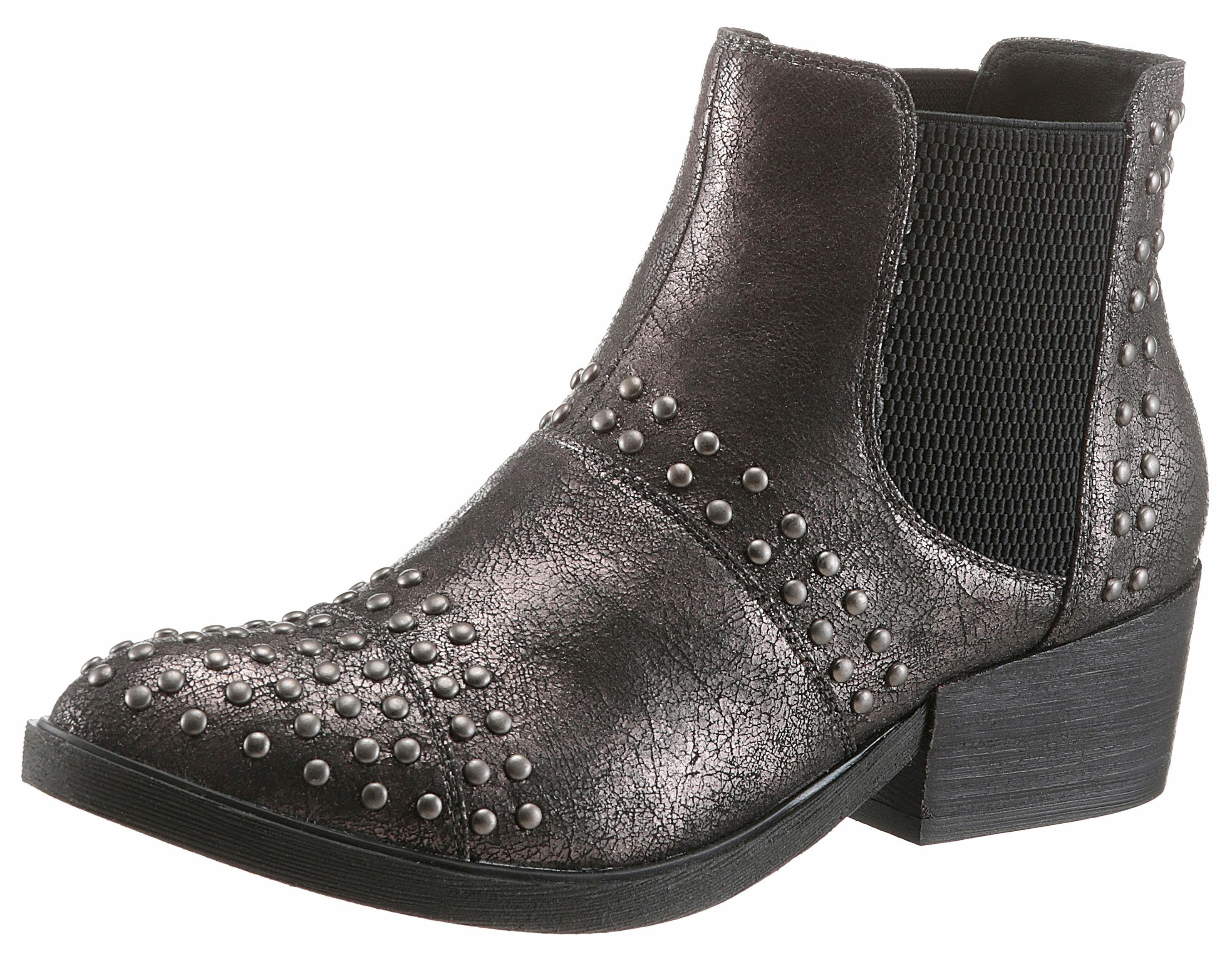 S.oliver Étiquette Rouge Bottes Chelsea Taupe eXEC1awkY