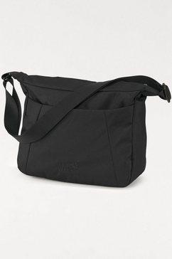 jack wolfskin schoudertas valparaiso bag praktische tas met veel ruimte zwart