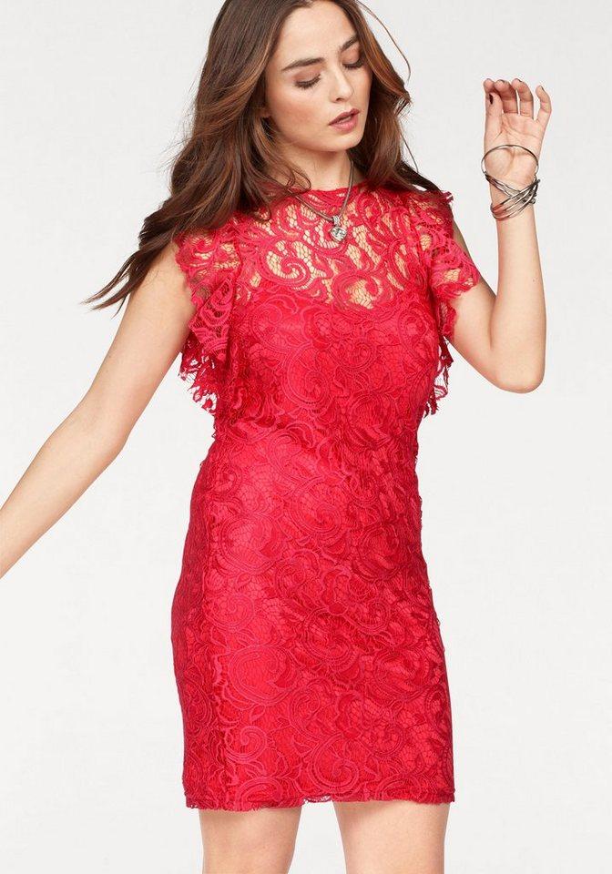 VERO MODA kanten jurk THEA rood