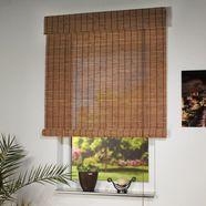 rolgordijn met zijbediening, liedeco, houten jaloezien, lichtwerend, standaardmaat bruin