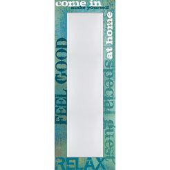 home affaire spiegel »l., w.: come in«, 50x140 cm blauw