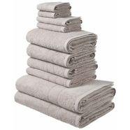 my home handdoekenset inga met fijne rand (set, 10-delig) grijs