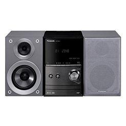 panasonic »scpm602« micro-set (bluetooth, fm-tuner met rds, digitale radio (dab+), 40 w) zilver