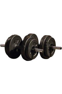 iron gym 15 kg handhalterset zwart