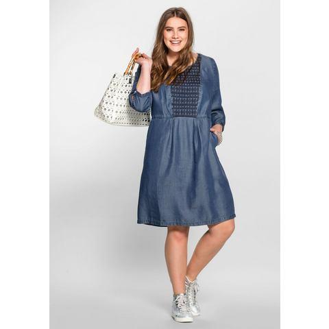 sheego Casual Lyocell-jurk met borduursel