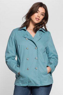 sheego casual caban in marine-look blauw