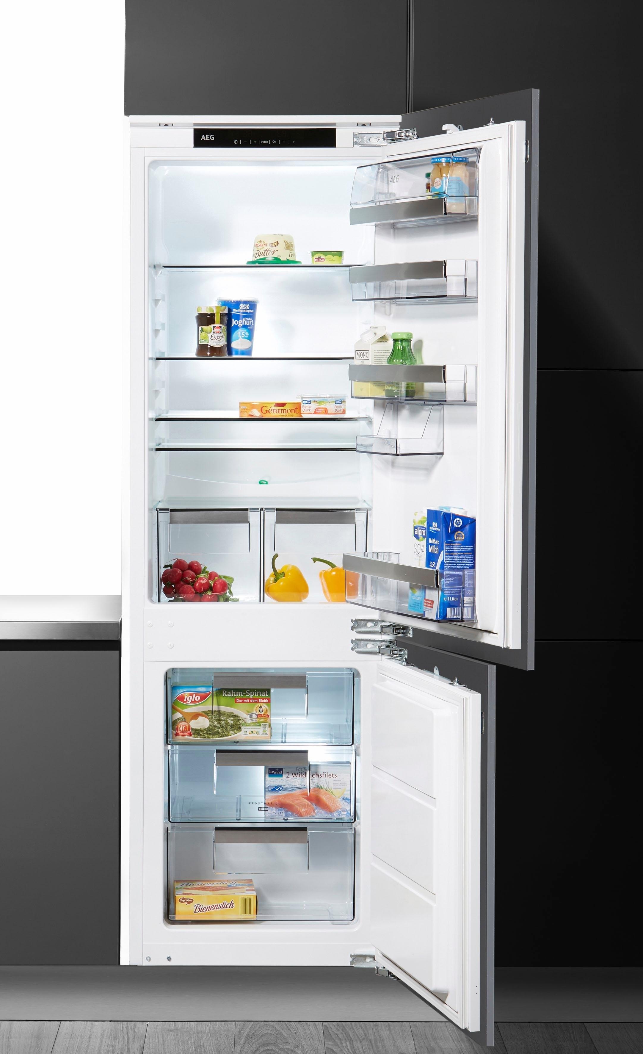 AEG inbouw koel-vriescombinatie SANTO / SCE81821LC, A++, 178 cm voordelig en veilig online kopen