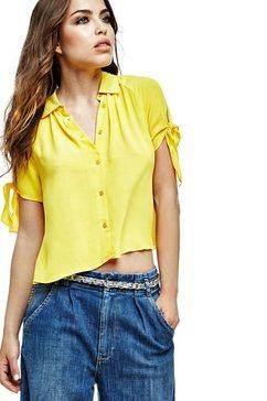 blouse met korte mouwen met strik
