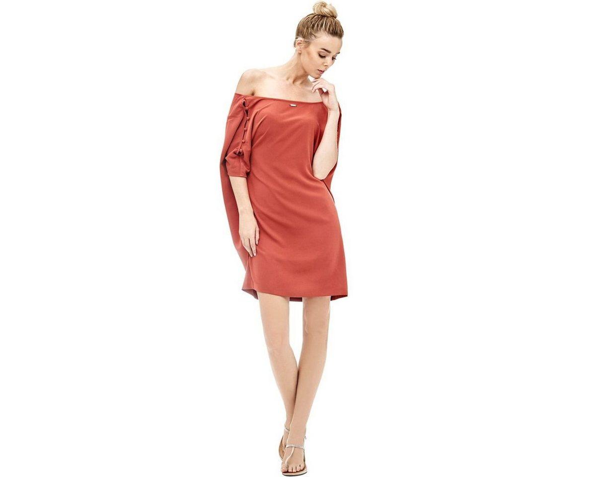 Guess jurk met mouwen met uitsparingen multicolor