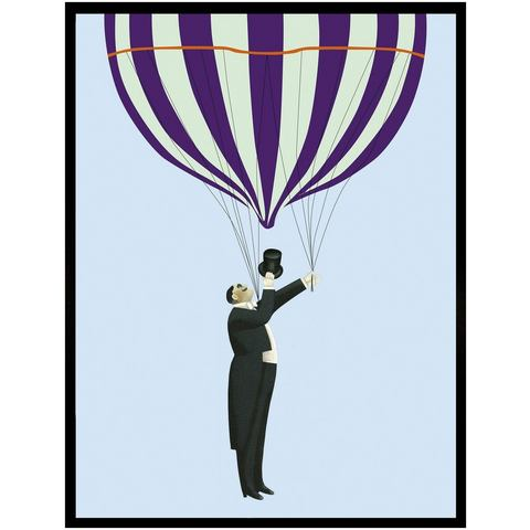 G&C ingelijste artprint Take me for a Ride, luchtballon 33x43 cm