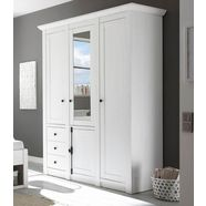 garderobekast van beukenkernhout wit