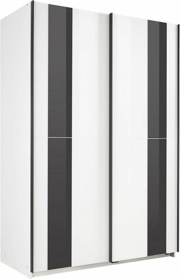 WIMEX zweefdeurkast met gekleurd glas