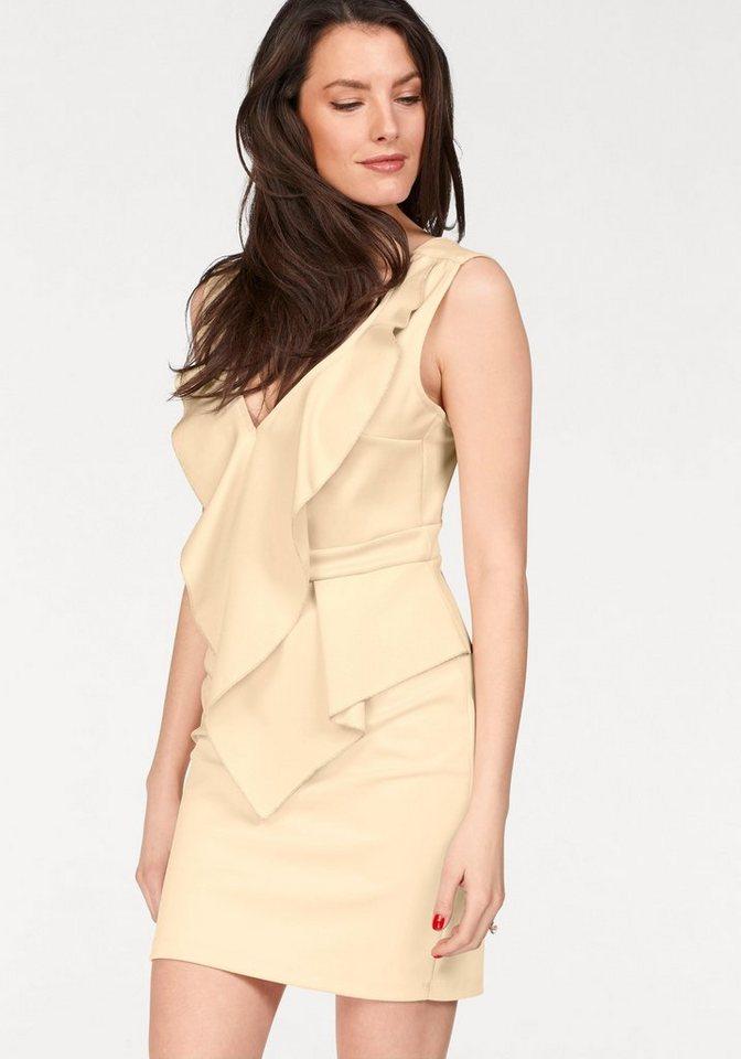 Vivance Collection jurk in overgooiermodel geel