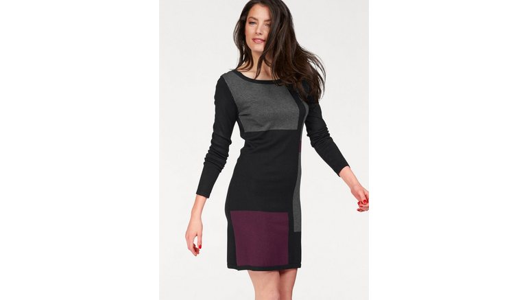 ba5ea300c8e517 VIVANCE COLLECTION Lange trui resp. tricot-jurk in de online winkel ...