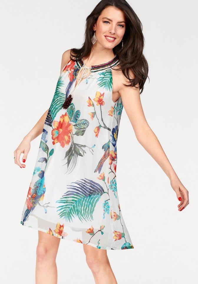 Vivance Collection jurk in A-lijn wit