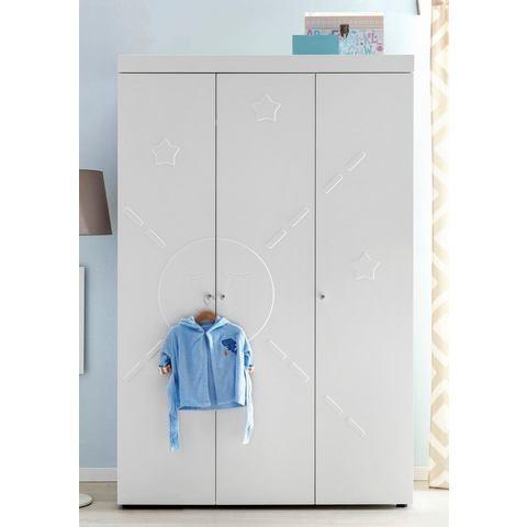 Garderobekast passend bij meubelserie Basel, mat-wit