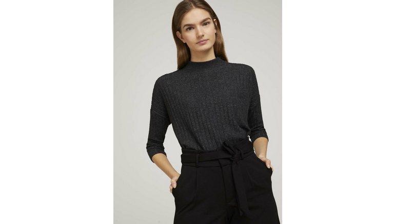 Tom Tailor Denim shirt met lange mouwen »Pullover mit Rippstruktur«