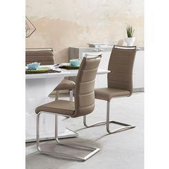 mca furniture vrijdragende stoel pescara stoel belastbaar tot 120 kg (set, 2 stuks) bruin