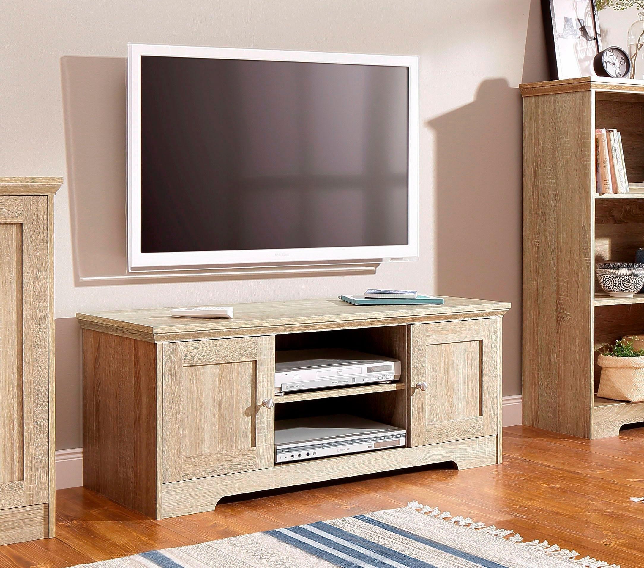 Home affaire tv-meubel Nanna met een mooi oppervlak in eiken-look, in twee verschillende breedten - gratis ruilen op otto.nl
