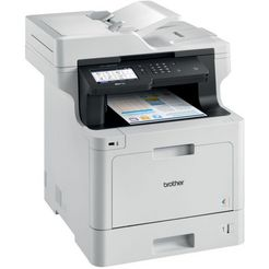 brother all-in-one kleurenlaserprinter »mfc-l8900cdw 4in1 multifunktionsdrucker« grijs