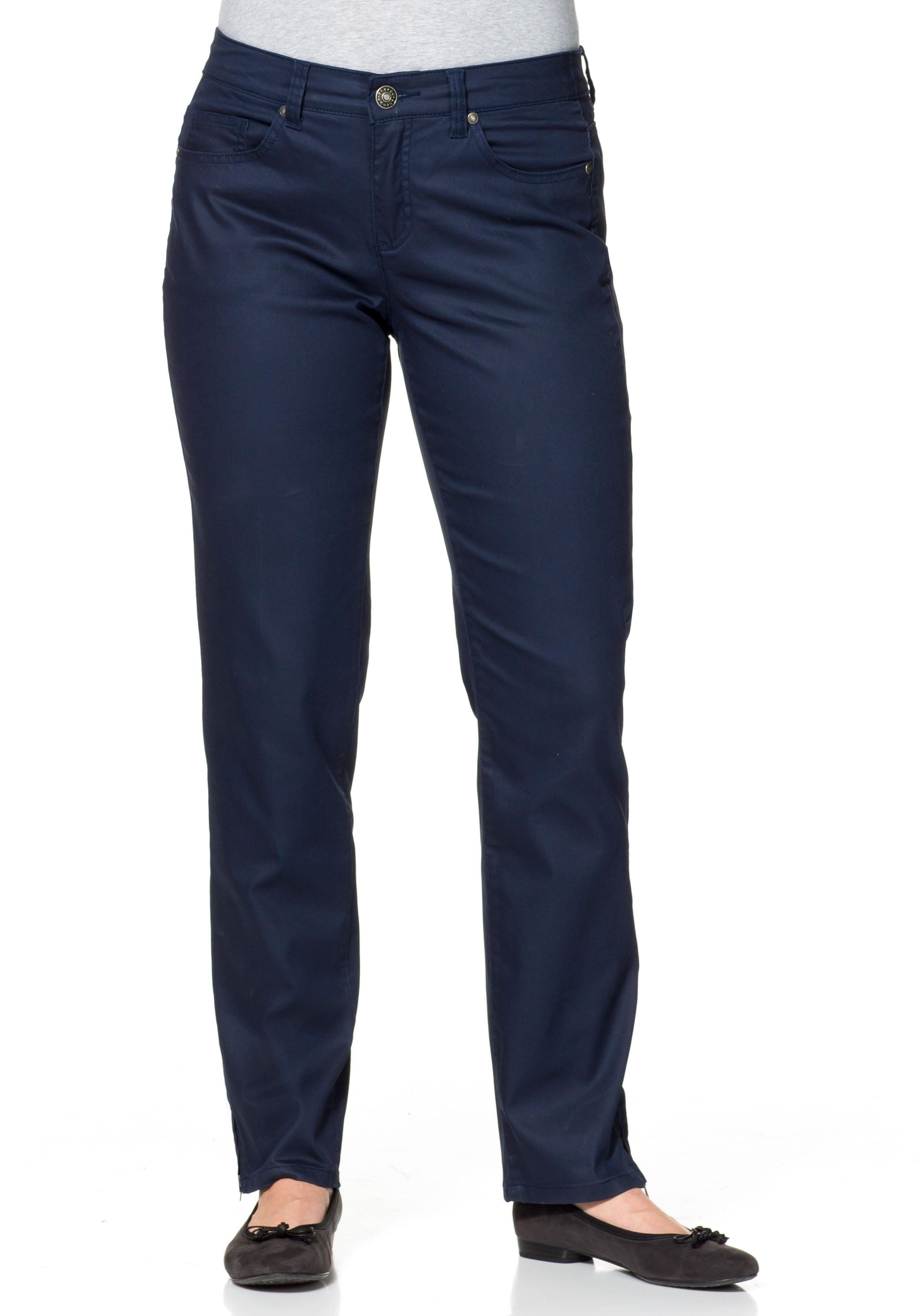 Sheego Casual SHEEGO CASUAL smalle stretchbroek in five-pocketsmodel nu online kopen bij OTTO