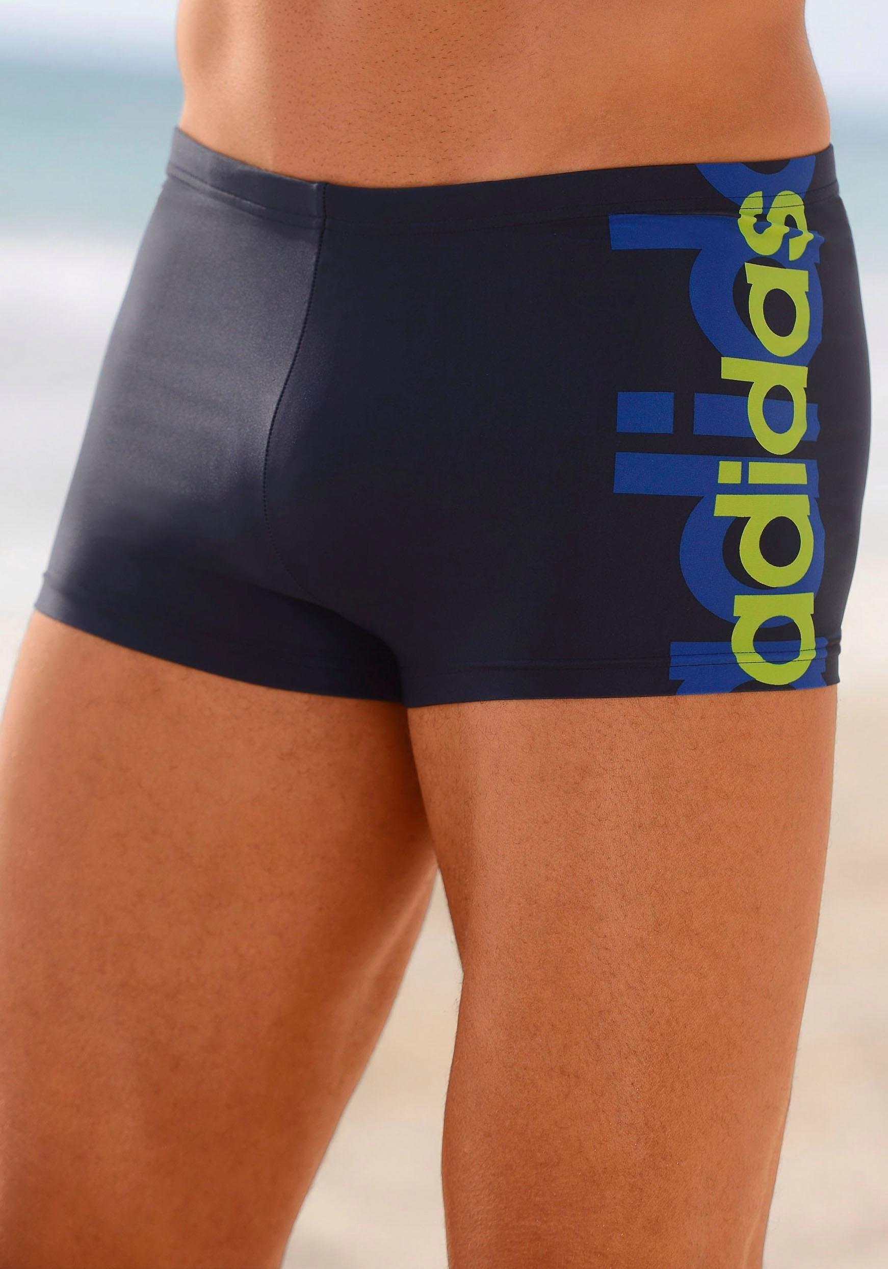 adidas Performance zwemboxer met groot logo-opschrift voordelig en veilig online kopen