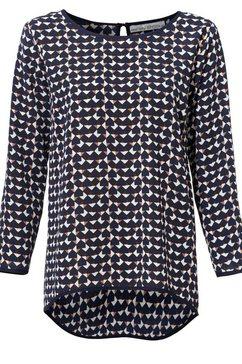 gedessineerde blouse blauw