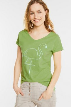 Shirt met flamingo