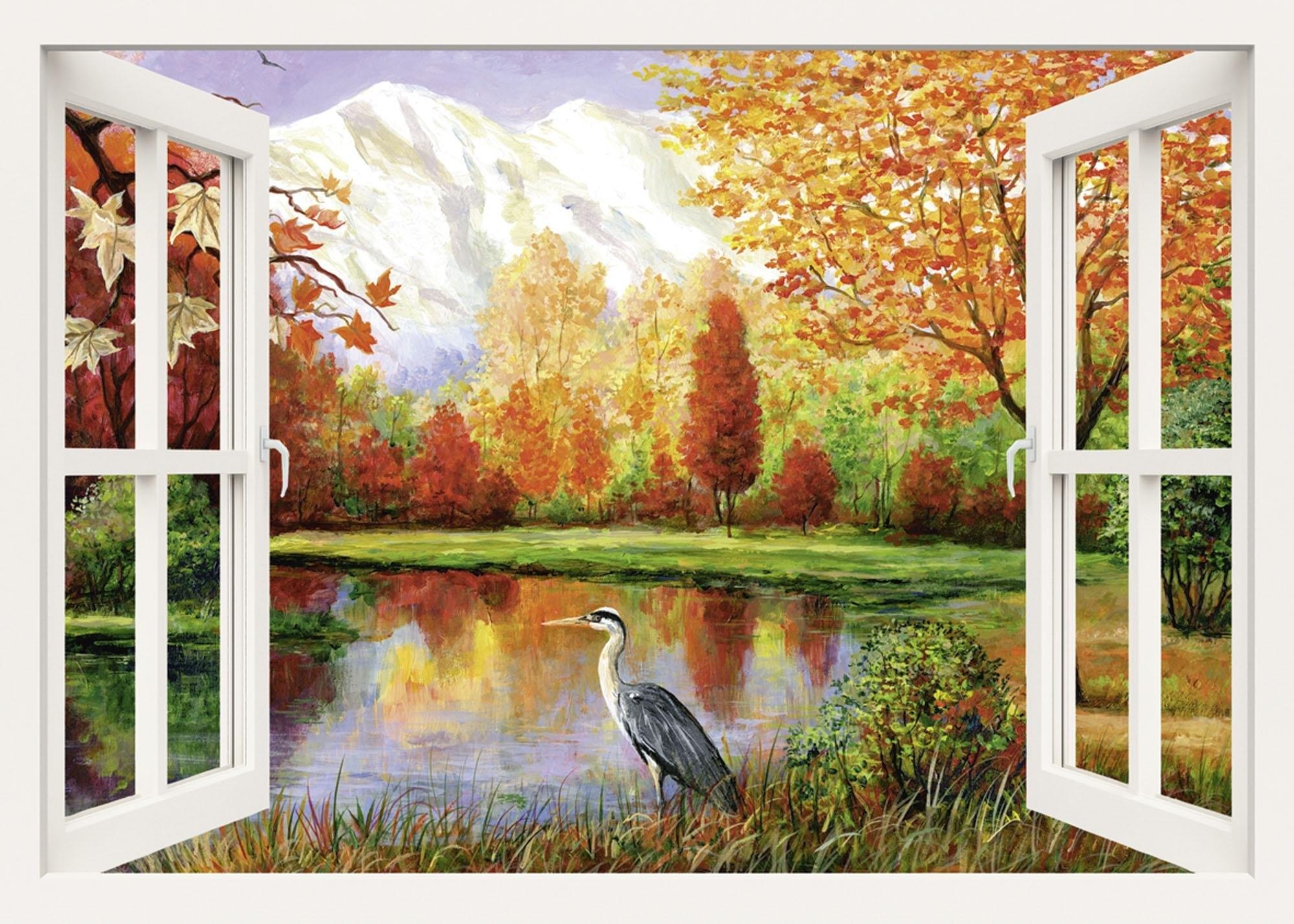 Home Affaire artprint op linnen, » S., A.: Herfst aan het meer, 100x70 cm bij OTTO online kopen