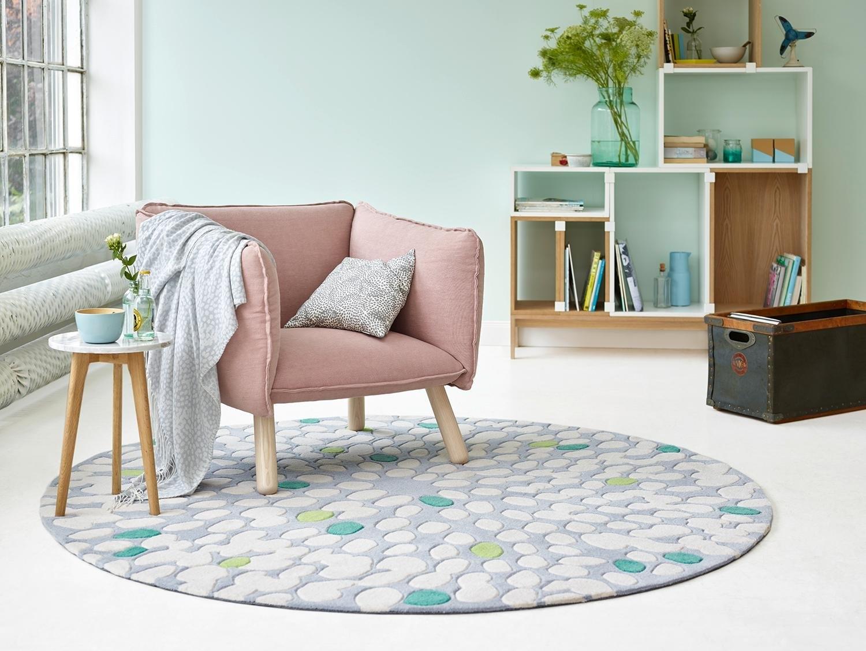 vloerkleed rond esprit fluttery hoogte 10 mm zuiver scheerwol handgetuft nu online kopen. Black Bedroom Furniture Sets. Home Design Ideas