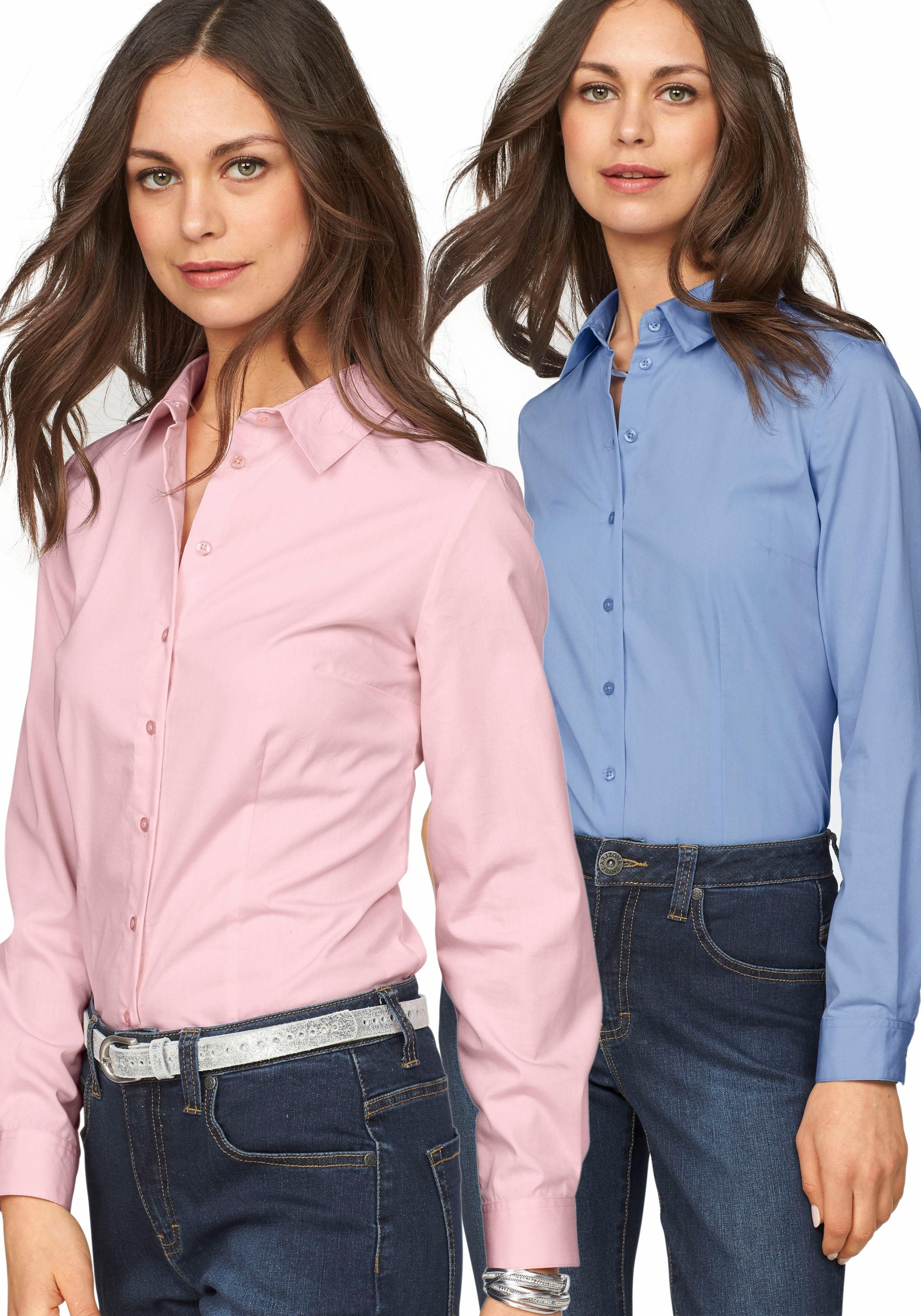 Flashlights blouse met lange mouwen in overhemdstijl (set, Set van 2) bij OTTO online kopen