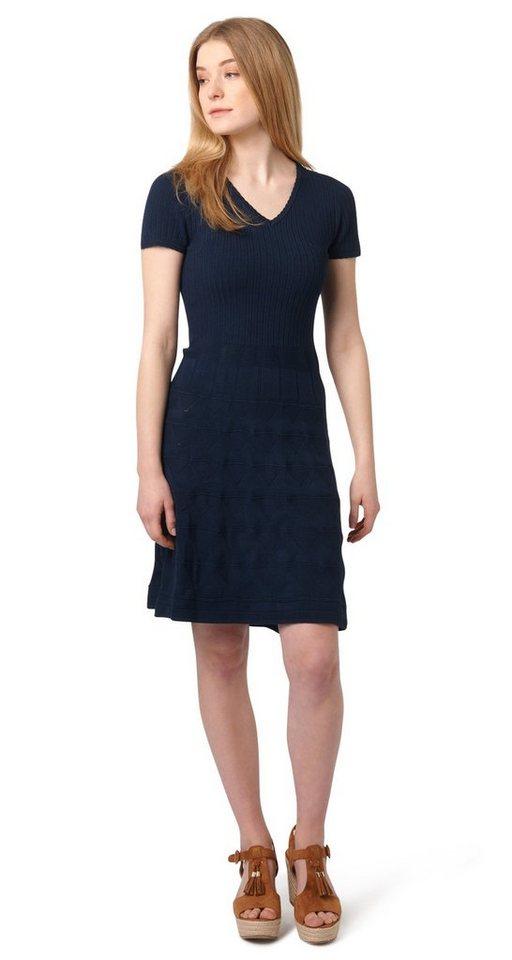 Tom Tailor jurk Feinstrickkleid blauw