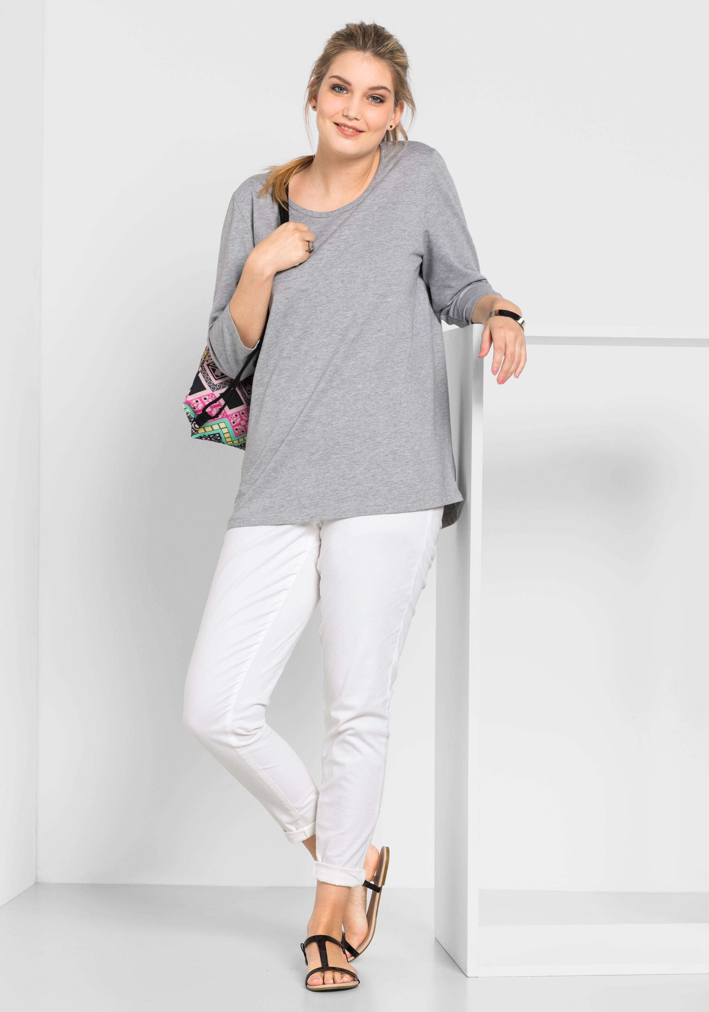 Bij Basic Sheego Online Sweatshirt Casual XPZuiOk