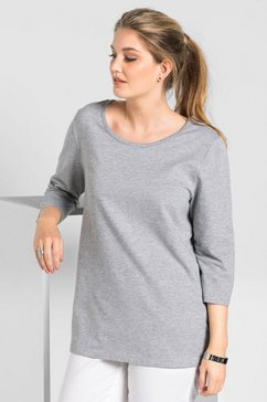 sheego basic sweatshirt grijs