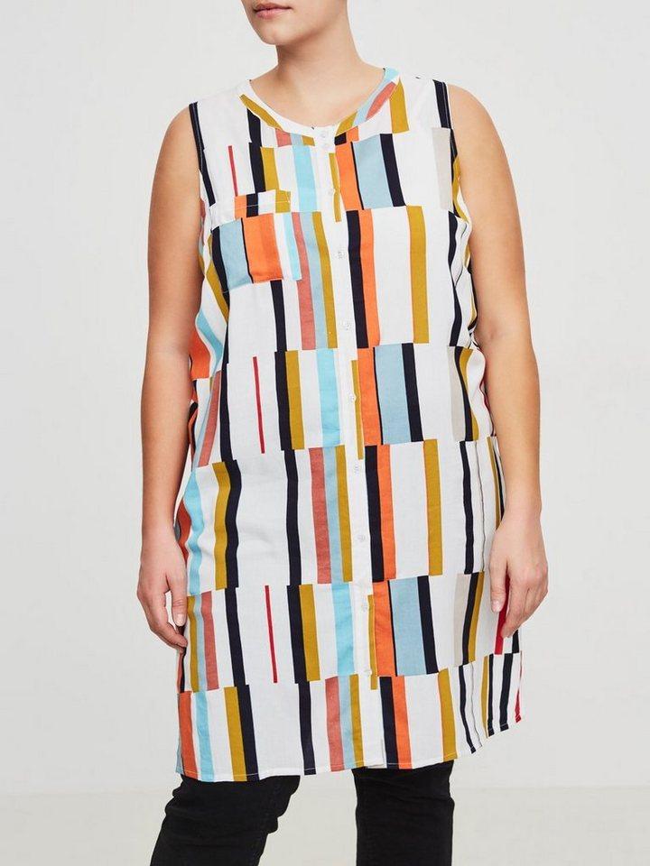 Junarose Mouwloze jurk multicolor
