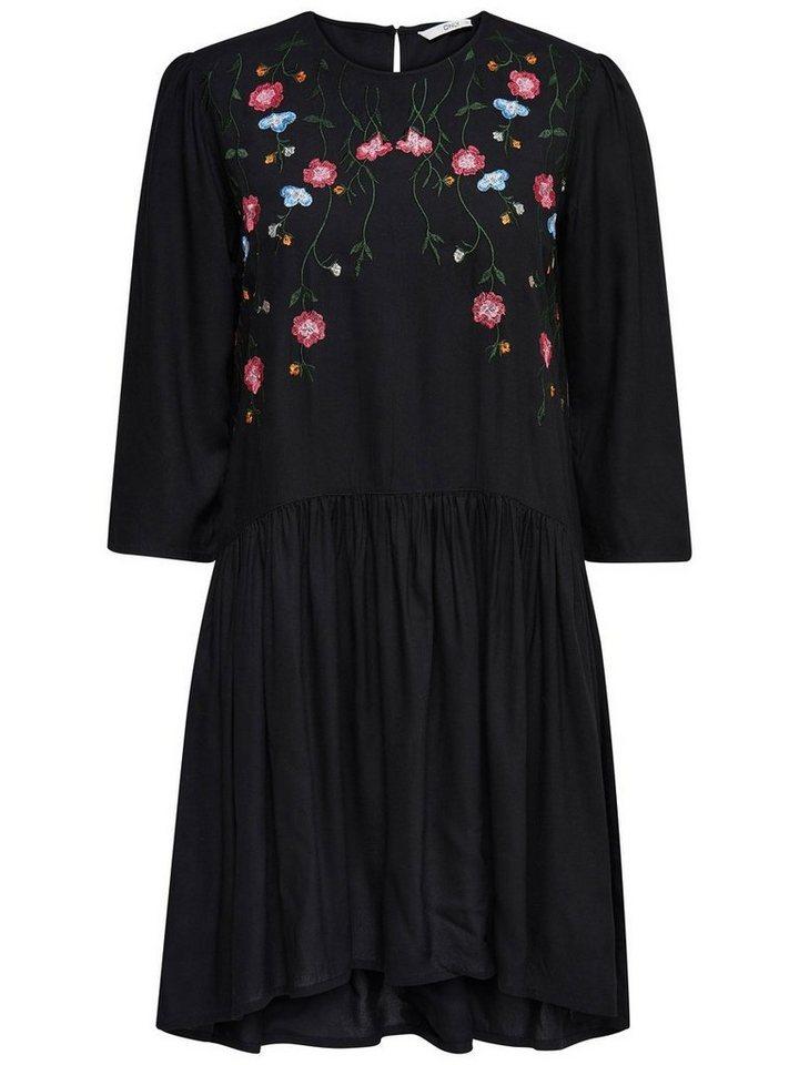 ONLY Geborduurde jurk zwart