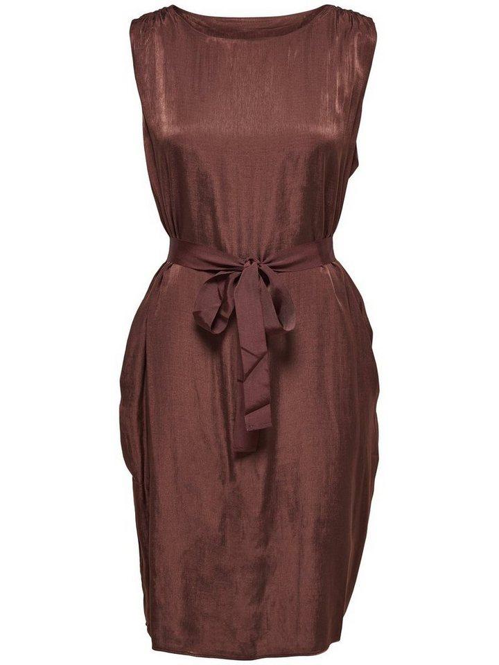 ONLY Effen Mouwloze jurk bruin