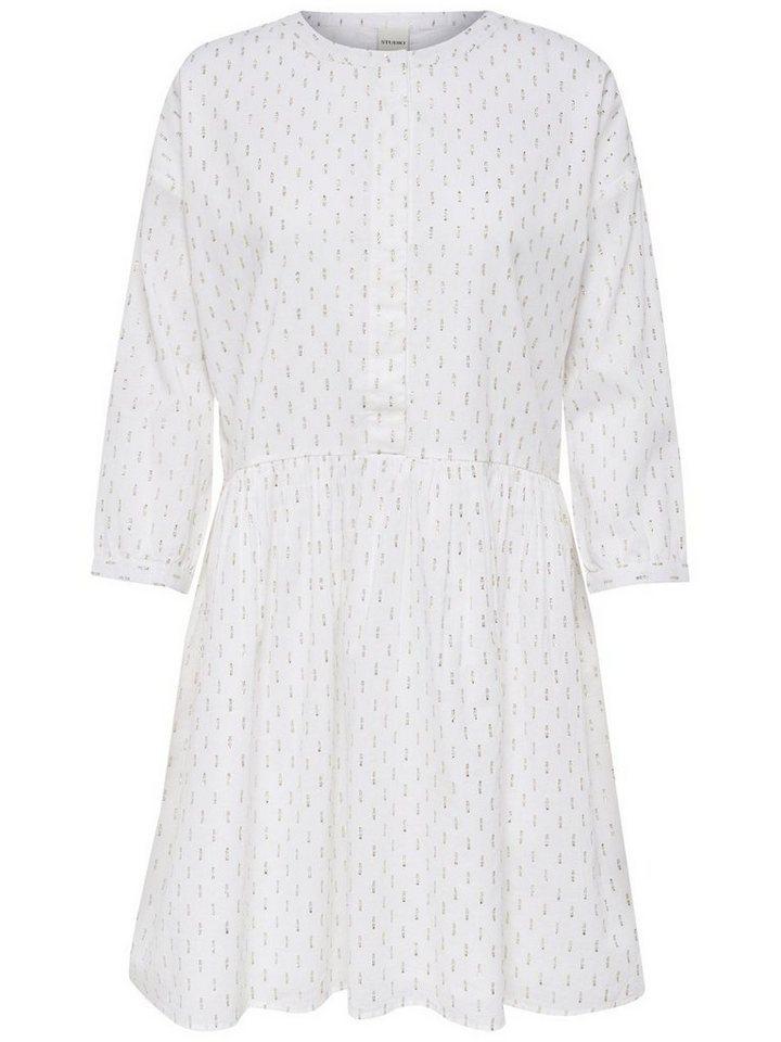 NU 21% KORTING: ONLY Gedetailleerde jurk wit