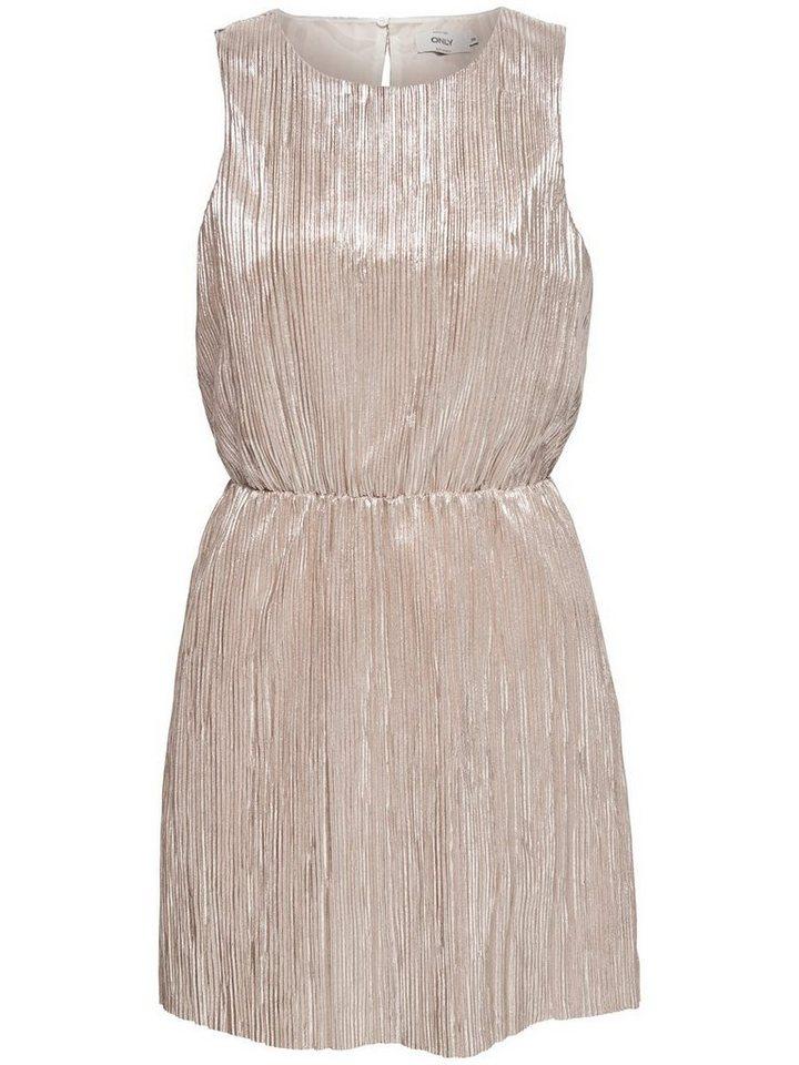 ONLY Metallic Mouwloze jurk multicolor