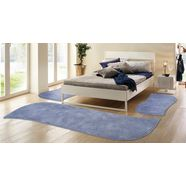 hoogpolige 3-dlg. slaapkamerset, my home selection, »desner«, hoogte 38 mm, handgetuft blauw