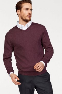 class international pullover met v-hals rood