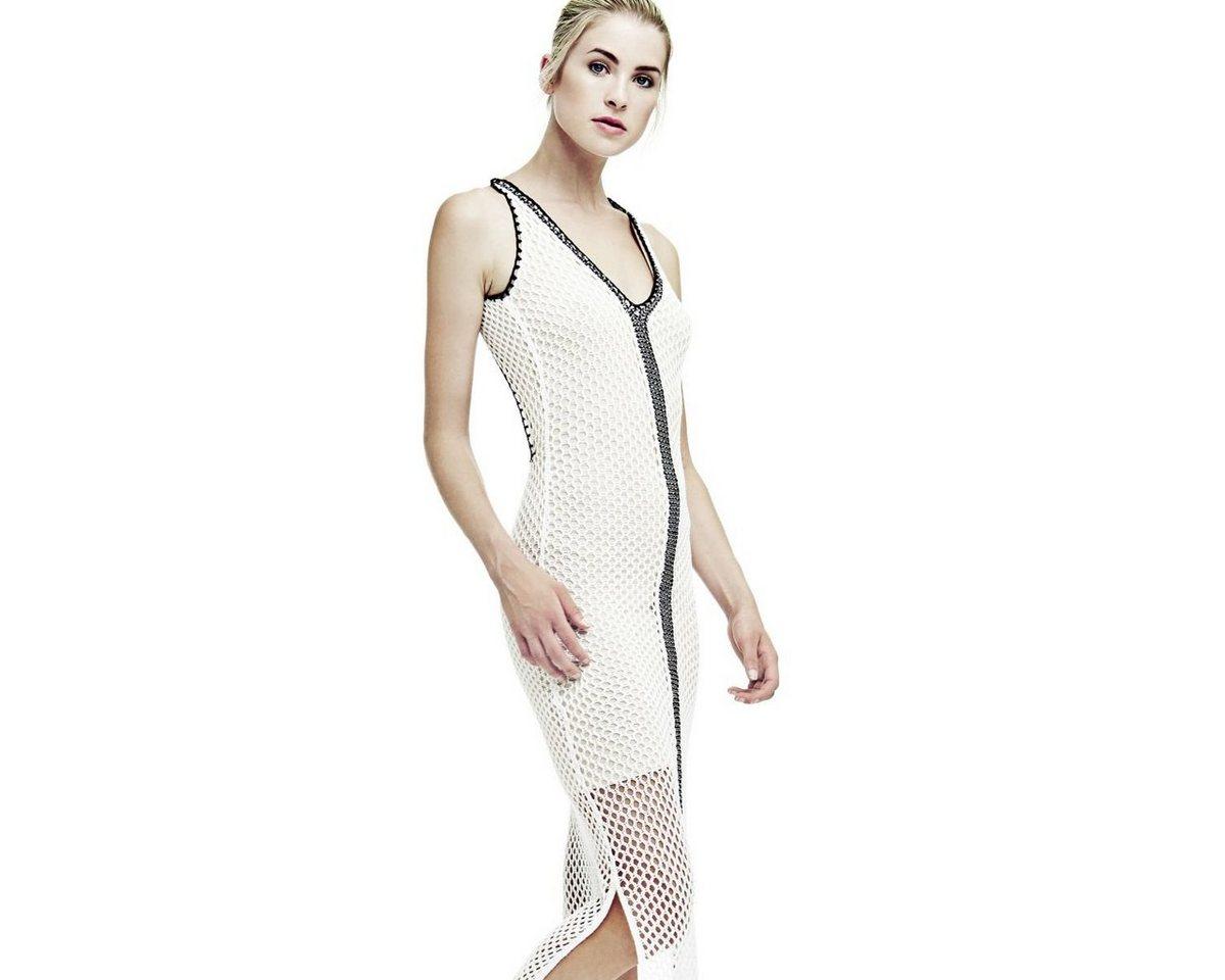Guess jurk van netstof wit